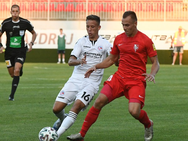 Na snímke zľava Marko Totka (Senica)