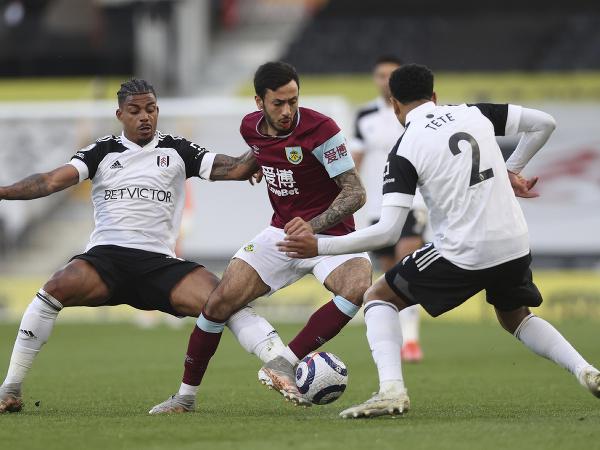 Momentka zo zápasu Fulham - Burnley