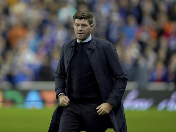 Tréner Glasgowa Rangers Steven Gerrard