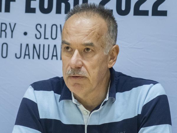 Na snímke predseda predstavenstva organizačného výboru ME 2022 Igor Nemeček