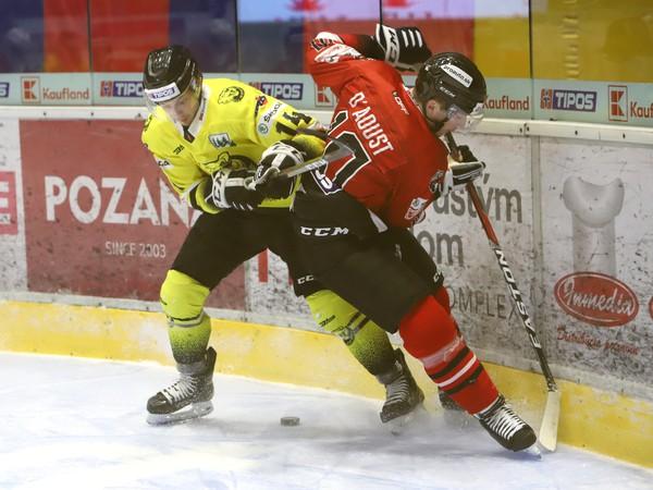 Momentka zo zápasu HC'05 Banská Bystrica - HC 07 Detva