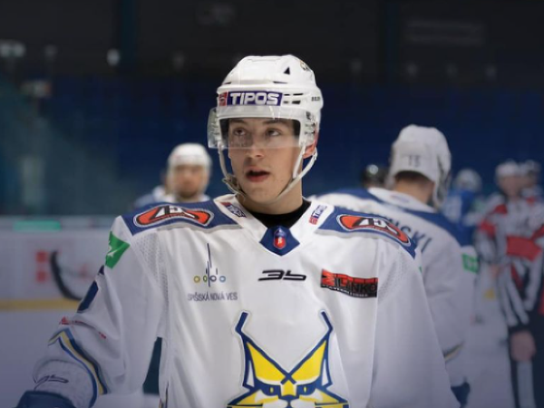 Slovenský hokejový obranca Alexander Zekucia v drese HK Spisska Nova Ves