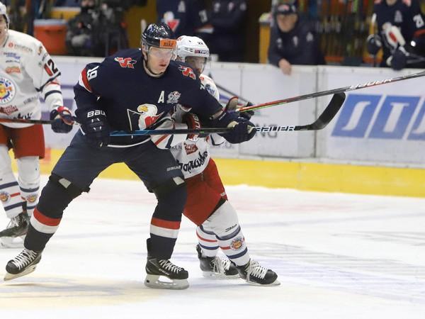 Momentka zo zápasu HKM Zvolen – HC Slovan Bratislava