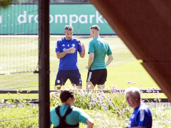 Robert Boženík a Robin van Persie pri tréningu Feyenoordu
