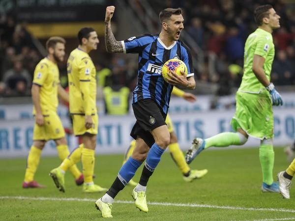 Matías Vecino oslavuje strelený gól