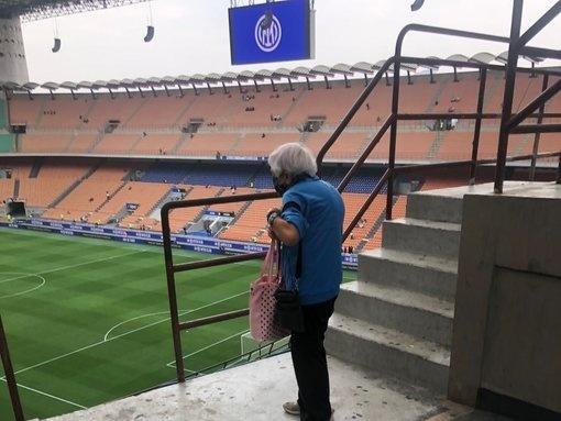 Verná fanynka Interu Milána Evviva Giancarla