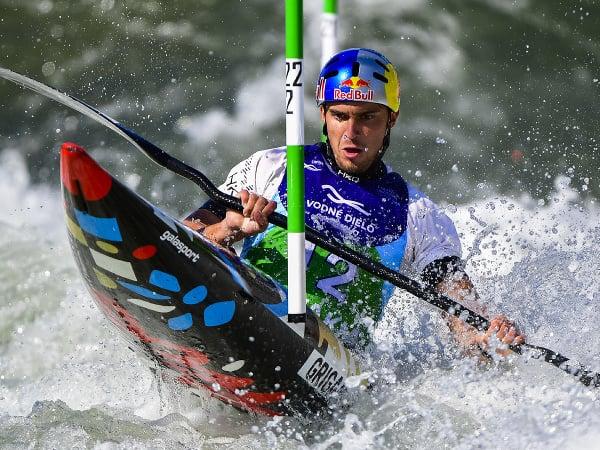 Jakub Grigar vo finále K1 v Čunove