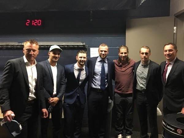 Peter Sagan prišiel podporiť slovenských hokejistov