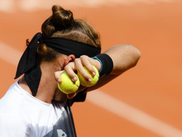 Slovenský tenista Jozef Kovalík počas semifinále mužskej dvojhry proti Argentínčanovi Leonardovi Mayerovi