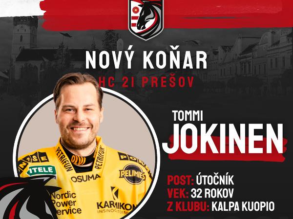 Prešov angažoval fínskeho útočníka Tommiho Jokinena