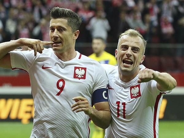 Radosť hráčov Poľska