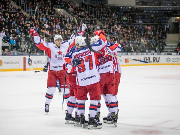 Gólová radosť hráčov CSKA Moskva