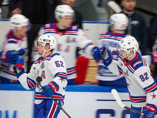 Gólové oslavy hokejistov SKA Petrohrad