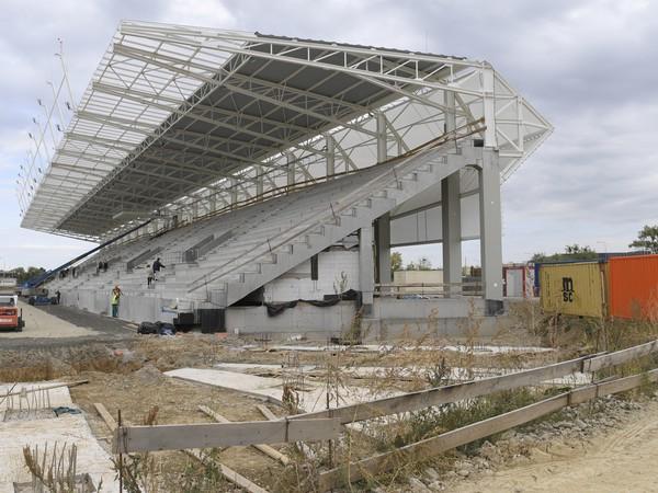 Košická futbalová aréna počas kontrolného dňa