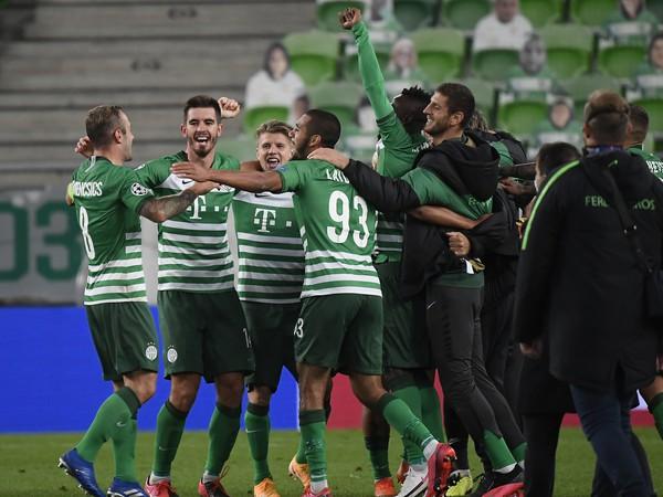 Radosť hráčov Ferencvárosu