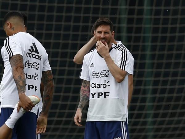 Lionel Messi počas tréningu