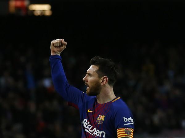 Lionel Messi sa teší po strelení gólu
