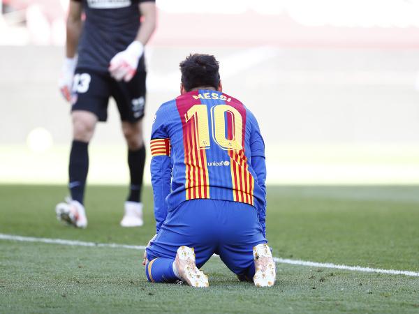 Lionel Messi po nepremenenej šanci