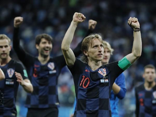 Luka Modrič a jeho oslavné gesto