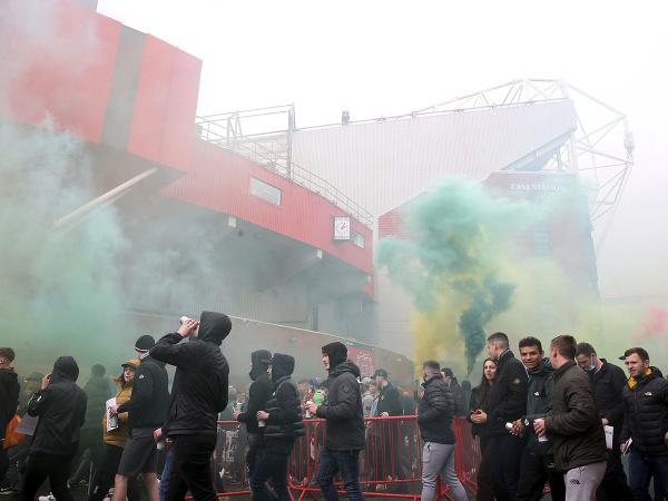 Fanúšikovia Manchestru United protestovali proti majiteľom klubu