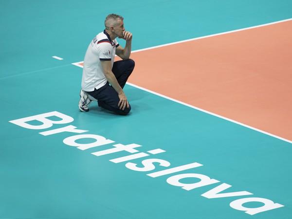 Tréner slovenskej ženskej volejbalovej reprezentácie Marco Fenoglio