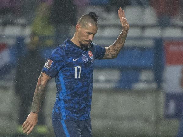 Kapitán slovenskej futbalovej reprezentácie Marek Hamšík