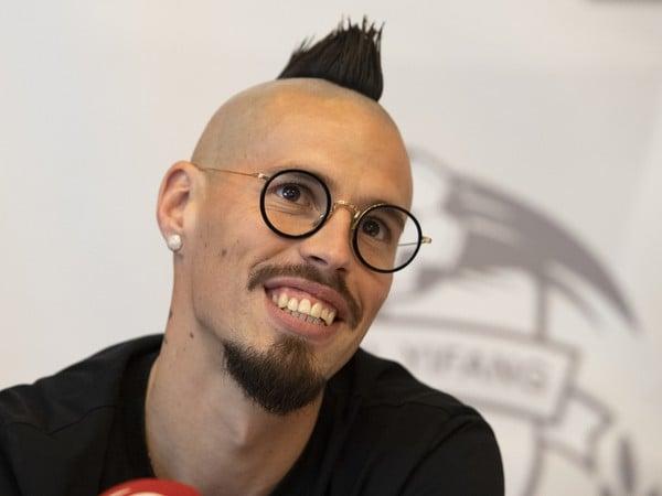Na snímke slovenský futbalový reprezentant Marek Hamšík