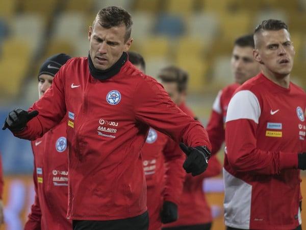 Ján Ďurica a Martin Škrtel počas tréningu