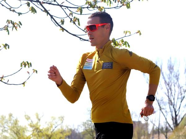 Slovenský chodec Matej Tóth počas individuálneho tréningu v Banskej Bystrici