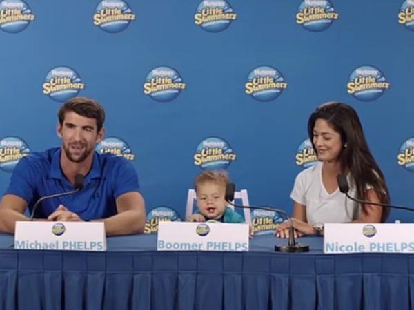 Michael Phelps s rodinou