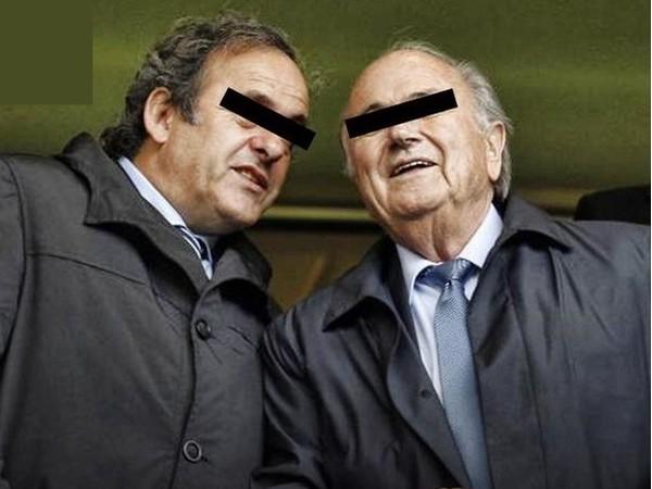 Sepp Blatter a Michel Platini