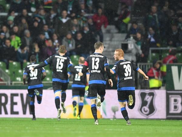 Gólové oslavy futbalistov Paderbornu