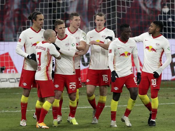 Gólové oslavy futbalistov Lipska