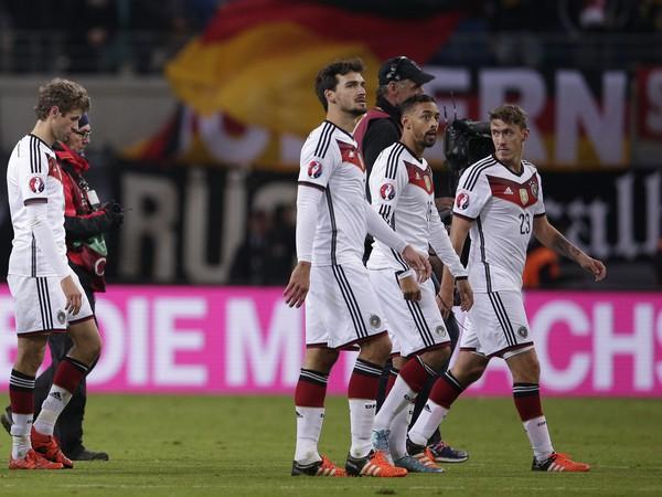 Nemeckí futbalisti po triumfe nad Gruzínskom