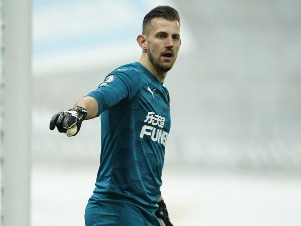 Slovenský futbalový brankár v drese Newcastle United Martin Dúbravka
