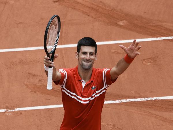 Novak Djokovič oslavuje víťazstvo