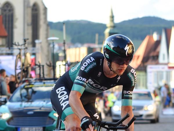 Na snímke Erik Baška (SR/Bora-Hansgrohe) počas časovky v druhej poletape 63. ročníka cyklistických pretekov okolo Slovenska