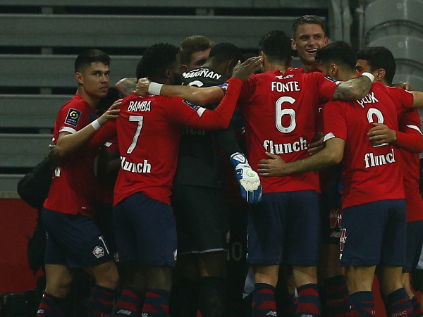 Hráči OSC Lille sa radujú z gólu