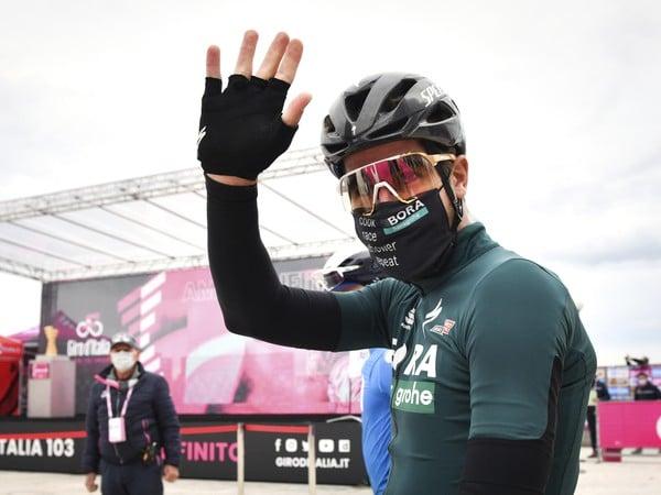 Peter Sagan na trati Giro d'Italia