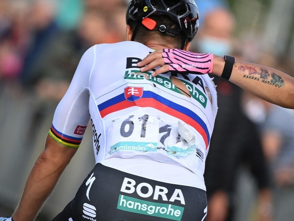 Slovenský cyklista Peter Sagan počas 1. etapy pretekov Okolo Beneluxu