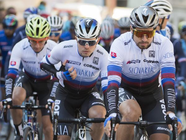 Slovenskí cyklisti na čele s Petrom Saganom