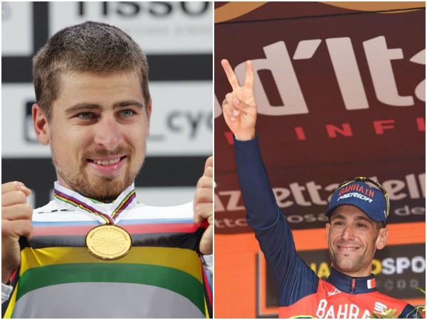 Peter Sagan a Vincenzo Nibali