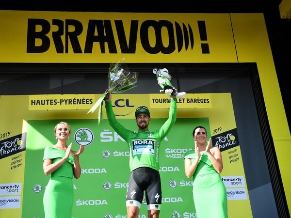 Peter Sagan v zelenom drese po 14. etape Tour
