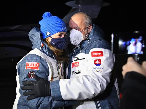 Petra Vlhová a jej otec Igor Vlha