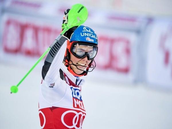 Petra Vlhová sa raduje z triumfu v slalome