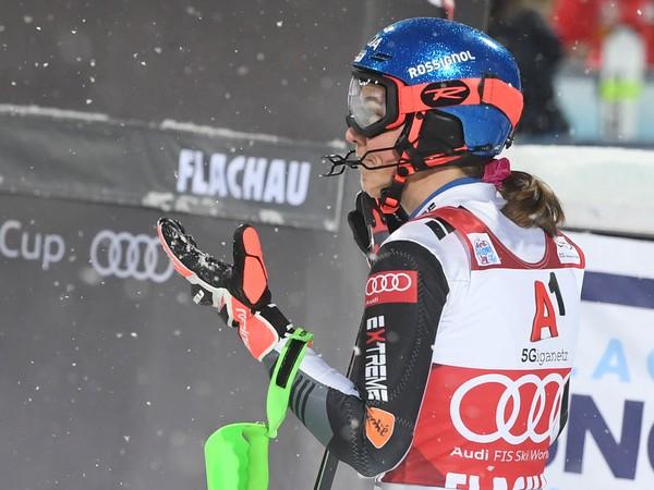 Slovenská lyžiarka Petra Vlhová v cieli po 2. kole nočného slalomu Svetového pohára žien v rakúskom Flachau