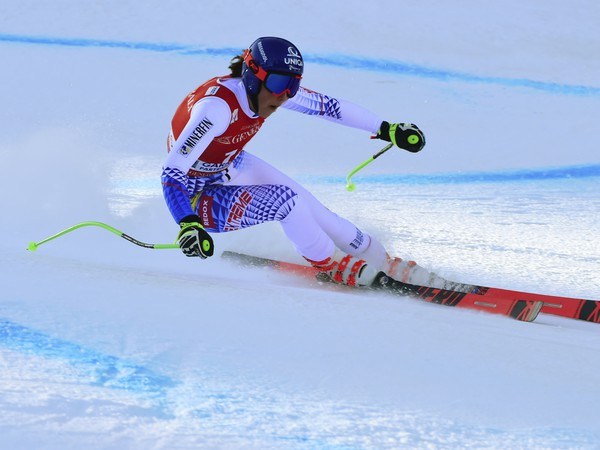Slovenská lyžiarka Petra Vlhová počas super-G Svetového pohára alpských lyžiarok v nemeckom stredisku Garmish - Partenkirchen