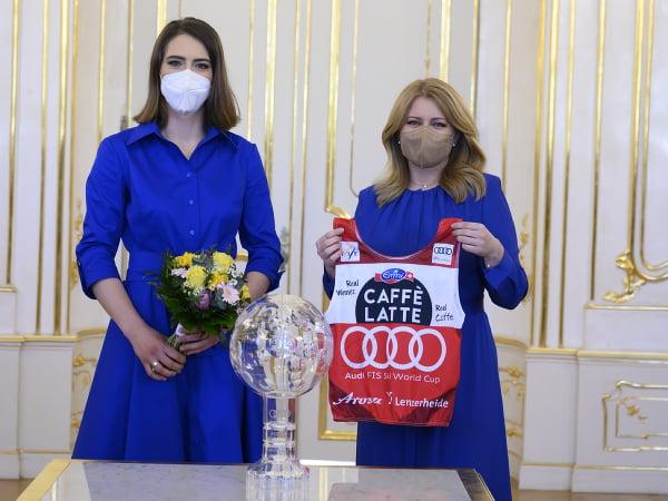 Slovenská prezidentka Zuzana Čaputová prijala Petru Vlhovú