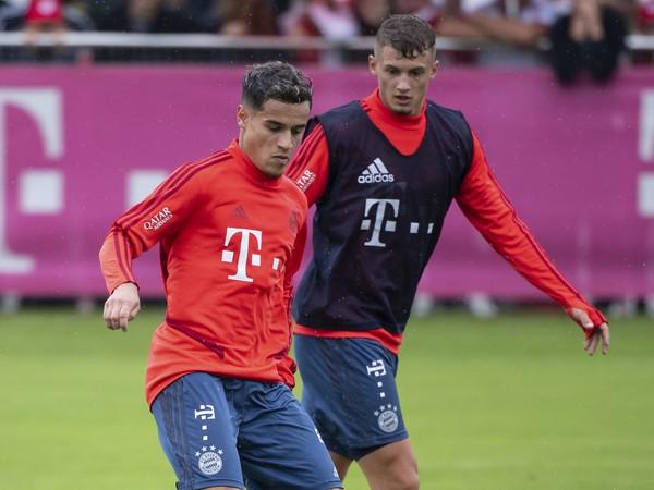 Philippe Coutinho počas tréningu v Mníchove