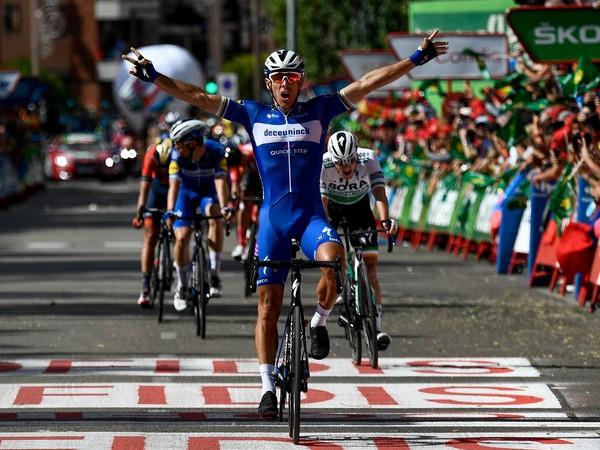 Philippe Gilbert a jeho víťazná radosť v cieli